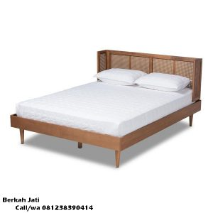 Tempat Tidur Minimalis Modern Rotan