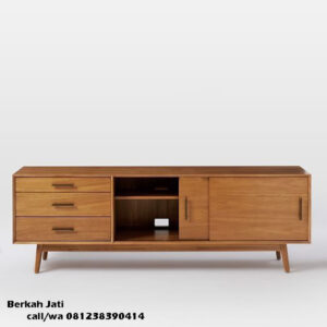 Bufet Tv Retro Pintu Sliding