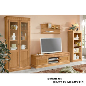 Lemari Tv Minimalis Warna Natural