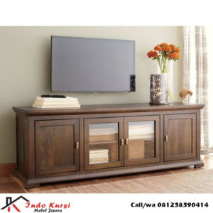 Bufet Tv Industrial Kayu Jati